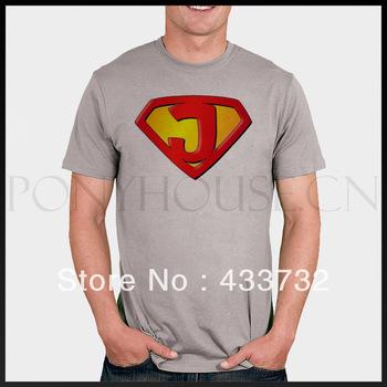 Jesus superman men t shirts/  super man male short-sleeve T-shirt / jesus lycra cotton sport t-shirt