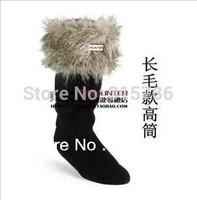 2013 Free shipping socks fur ankle sock klaas rainboots rain boots socks Leopard grain socks longsocks