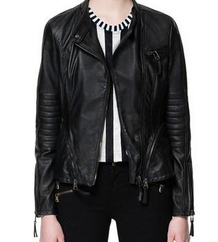 2014 New Autumn Winter Women Brand Leather Jackets Coat Motorcycle Streetwear Zipper Drop Shipping