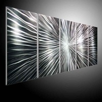 wall sculpture art, metal painting wall , original aluminum art oil painting Refraction line