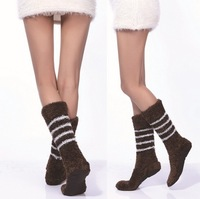 2013 2 Colors Fall & Winter Non-slip Floor Sleep Wear & Hhousehold Socks  Soft Protect The Calf Absorb Sweat  Prevent Beriberi