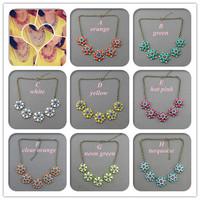 Minimum Order $20 (mixed order)   hot sale fashion jewelry Retro Golden Chain Azalea Flower Necklace