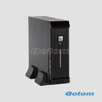 "mini pc case SECC small size and light weight with 1*2.5"" HDD, 120W DC-DC Board and12V/5A AC Adapter, QOTOM-C09C"