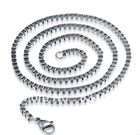 Mix order Free Shipping Wholesale Men's Jewelry High Quality Titanium Steel Chain Necklaces/ Fshion Jewelry