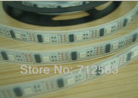 DHL Free Shipping,15m WS2801 LED digital strip,32pcs 5050 RBG leds/m with 32pcs WS2801, DC5V input, waterproof  in silicon tube