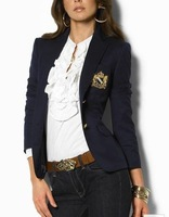 NEW Women's Casual polo Jacket Fashion Blazer Casual Black Street Suits Drop Shipping