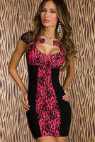 Good quality Roseo Retro Floral Lace Keyhole Bodycon Mini Dress high street vestido de praia  winter dress women dress clothing