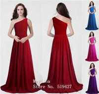 ZJ0047 light sky blue white elegant one shoulder party dress new 2015 long maxi formal dresses clothing for bridesmaids wedding