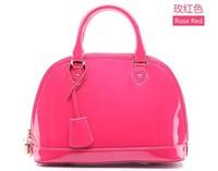 Big Same Paragraph Cow Leather Shell Bag Fashion Bag Mobile Messenger Bag 2013 Fashion Bag Women's  Leather Handbag Free Shiping