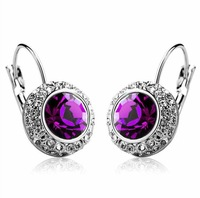 Fashion   Shiny Full Austrian rhinestone earrings
