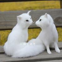 Artificial fox gift plush toy cartoon pet arctic fox