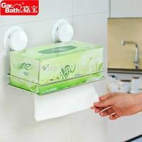 Free shipping Garbath suction tissue holder tissue rack stainless steel shelf GB260050