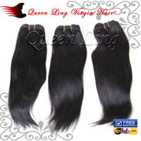 "Free Shipping 100% Brazilian Virgin Human hair extensions Unprocessed Hair Straight #1b Natural Color 12""-28"" 3bundles/lot"