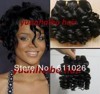 funmi hair brazilian hair 1b# bouncy curl human hair weft 3pcs free shipping