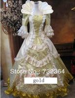 Free ship luxury Medieval Renaissance Gown queen Dress Costume Victorian Gothic Lol/Marie Antoinette/civil war/Colonial Belle