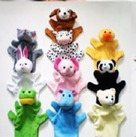 Wholesale Baby Plush Toy 6pc/Lot Finger Puppets Toy, Oversized Hand Puppet Plush Toy Animal Doll Baby Toy Christmas Gifts CL0257