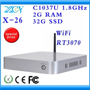 virtual computer mini host pc station linux XCY X-26 support wifi various os and hd movies hot on sale