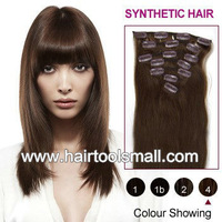"New Long 20"" Ladies' Clip in On Hair Extensions Straight Synthetic Hairpiece 10 Colors Available 7Pcsset"