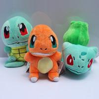 Pokemon plush Figure Doll Collectible Bulbasaur Charmander Squirtle Plush Toys Free Shipping 3Pcs/Lot