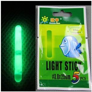 4.5*37MM Big Size Visual Range 30M Fishing Float Light Stick Chemical Night Lights Glow Sticks 25packs(125pcs) FT017