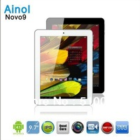 Free shipping Ainol NOVO9 Spark Firewire 9.7 inch Quad core tablet pc Allwinner A31 IPS Retina Screen 2GB RAM 16GB ROM HDMI