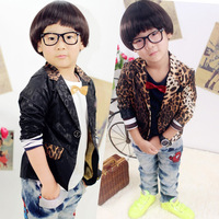 Kids Boys Baby Casual Coat Suits For Shirts Hot Leopard Print Coats Jackets Size 2-7