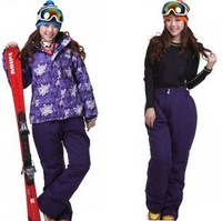 2013 winter thermal ski suit set outdoor waterproof windproof jacket thermal cotton-padded jacket women