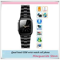 Free Shipping ultra-thin mini small mini personality smart watch phone java phone watch 2013 new best smart wrist watch phone