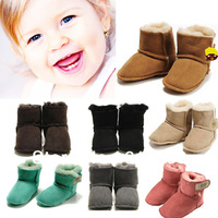 free ship new 2013 autumn/winter warm baby toddler shoes really wool sheep fur baby toddler soft bottom shoes 2pair/lot y24g110