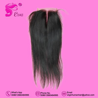 1 piece Russian virgin Straight Hair Closure, 100% Hand Made Swiss Lace 8-18 inches Russian Human Hair Straight Free Shipping
