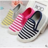 Free shipping new children's canvas casual shoes children's shoes  Korean version  a pedal size (14.5cm---17.5cm) +wholesale