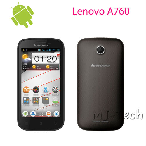 IN STOCK! Silcone case+ Lenovo A760 4.5 inch IPS Screen Snapdragon MSM8225Q Quad Core 1+4G Android 4.1 OS GPS Dual Sim 3G Phone(China (Mainland))