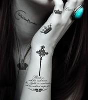 9 in 1 Crown Designs Temporary Tattoo Waterproof Body Tattoo Waterproof Body Tattoo