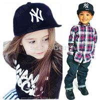 Europe and America boy/girl Adjustable cap hip-hop cap children baseball cap fashionable casual age 4-8A children cap hat