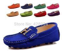 kids autumn leather shoes Moccasins pedal children shoes fashion solid color casual slip-resistant shoes girls boys shoes