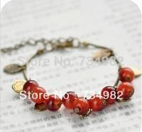 Min order $10 (mix order) Free Shipping New Fashion Vintage Korean Style Sweet Cherry Aesthetic Charm Bracelet