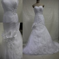 DMW035 Dreamaker 2013 the most popular real sample vintage sexy mermaid tail wedding dress