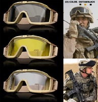 REVISION US ARMY tactical combat goggles outdoor shooting protective goggles anti-impact glasses free shippping