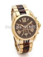 Free Shipping 2014 New Fashion Kors Watch Men Luxury Brand Full Steel Watch Roman Numerals Men Quartz Wristwatches 4 color