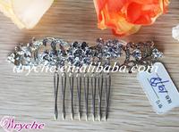 10198 New 2013 Crystal Rhinestone Beaded Bridal Hair Comb jeweled hair combs