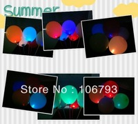 Wholesale 50pcs/lot Flash Ballon Light Up LED Balloons fo disco party bag filler for Wedding Lasts for 48 hours E2476-green