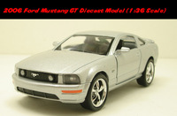 Brand New KINGSMART 1:38 Scale 2006 Ford Mustang GT Silver Diecast Metal Car Toy In Stock