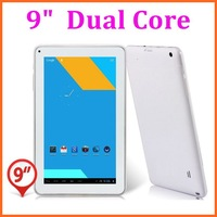 "NEW 9"" Dual Core CPU Android 4.2 8GB NAND Flash WIFI Dual Cameras 9 inch tablet pc Dropshipping"