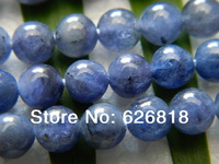 Free Shipping Natural 10mm Blue Kyanite  Round Beads Stone breast cancer awareness beads