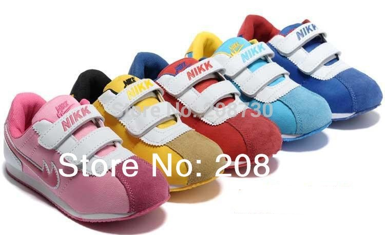Hot 2014 spring autumn 204 children shoes kids sport shoes boys and girls shoes running new shoes 5 color 20-36 size(China (Mainland))