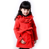 Free shipping, Children's clothing, female child wool coat, child autumn and winter outerwear
