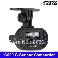 FULL HD 1080P 25fps 140 Degree Wide Angle 1.5inch LCD Mini CAR dvr Camera Recorder DVR C600 G-Sensor Free Shipping