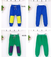 2013 Kids Casual Trousers Boys Spring And Autumn Thick Fleece splicing sports pants Fit 2-6Yrs 5 Pcs / 1 Lot