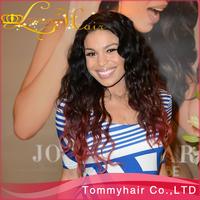 "1B99J lace wig!Grade AAAAAA virgin Brazilian hair two tone glueless full lace wig & two tone lace front wig,10""-24""130% density"