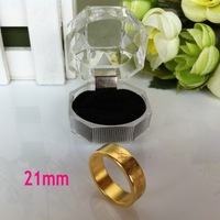 Free shipping gold color 21mm magnet ring magnetic ring magic trick magic prop with crystal box